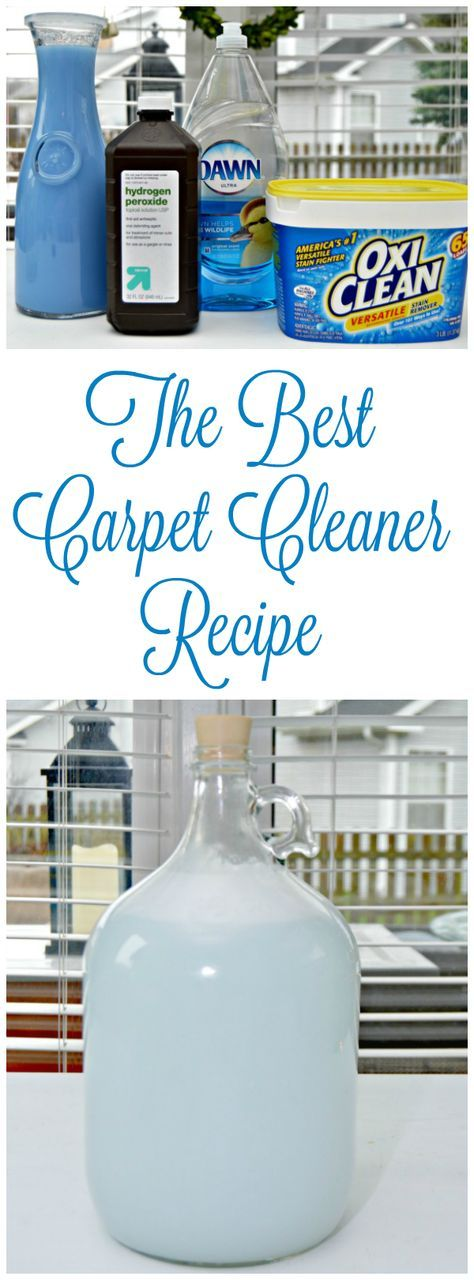 The Best Carpet Cleaner Recipe