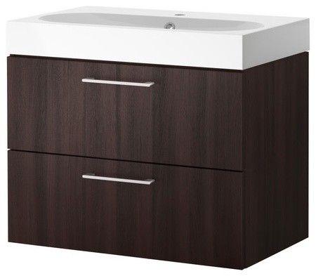 Image Of Narrow IKEA Bathroom Sink