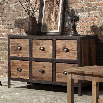 Big on storage space and industrial chic design.
