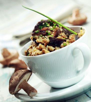 Φακές με μελιτζάνες και μανιτάρια | Γιάννης Λουκάκος