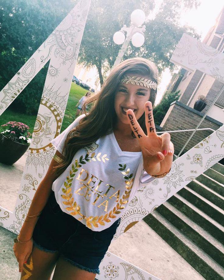 Bid Day Greek Goddess theme  Delta Zeta Purdue                                                                                                                                                     More