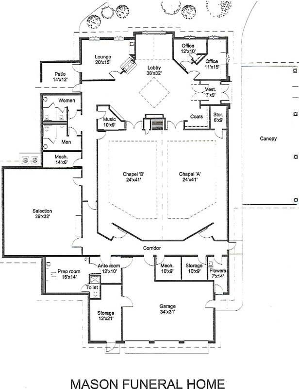 Funeral Home Floor Plan In 2020 House Floor Plans Floor Plan Layout Modern Floor Plans