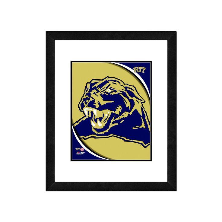 "Pitt Panthers Team Logo Framed 11"" x 14"" Photo, Multicolor"