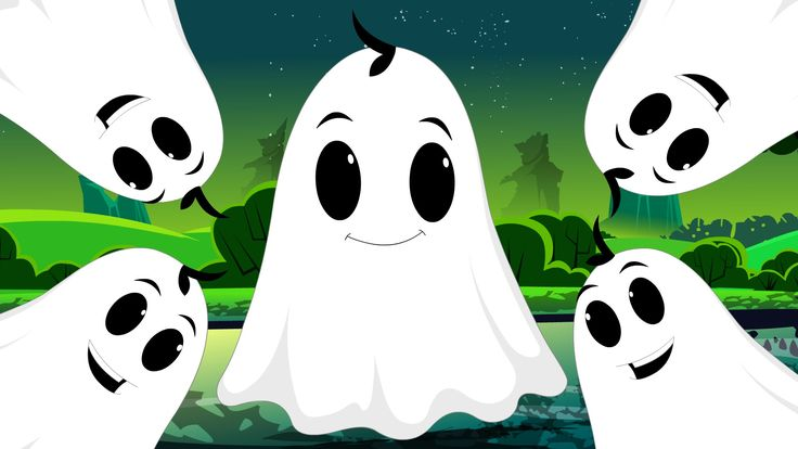 Five Naughty Ghosts | Halloween Nursery Rhyme Songs For Kids
