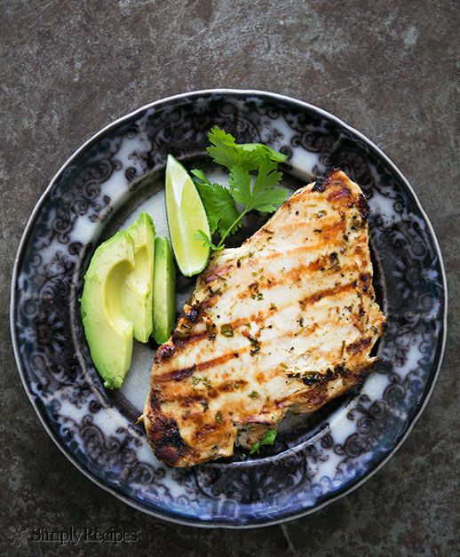 Grilled Cilantro Lime Chicken Recipe on www.SimplyRecipes.com #lowcarb #paleo #glutenfree