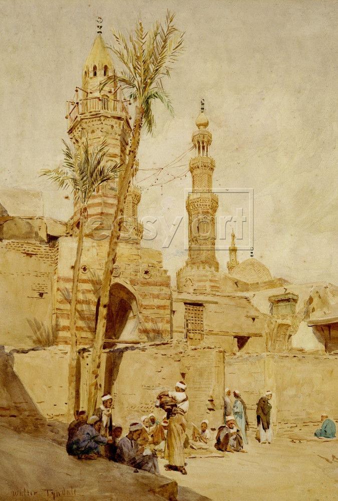 An Arab Street Scene, Cairo~  Walter Tyndale