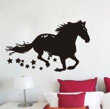 sterren paard dier vinyl muur stickers sticker art decor verwijderbare diy huis kamer familie bank in de woonkamer muur stickers(China (Mainland))