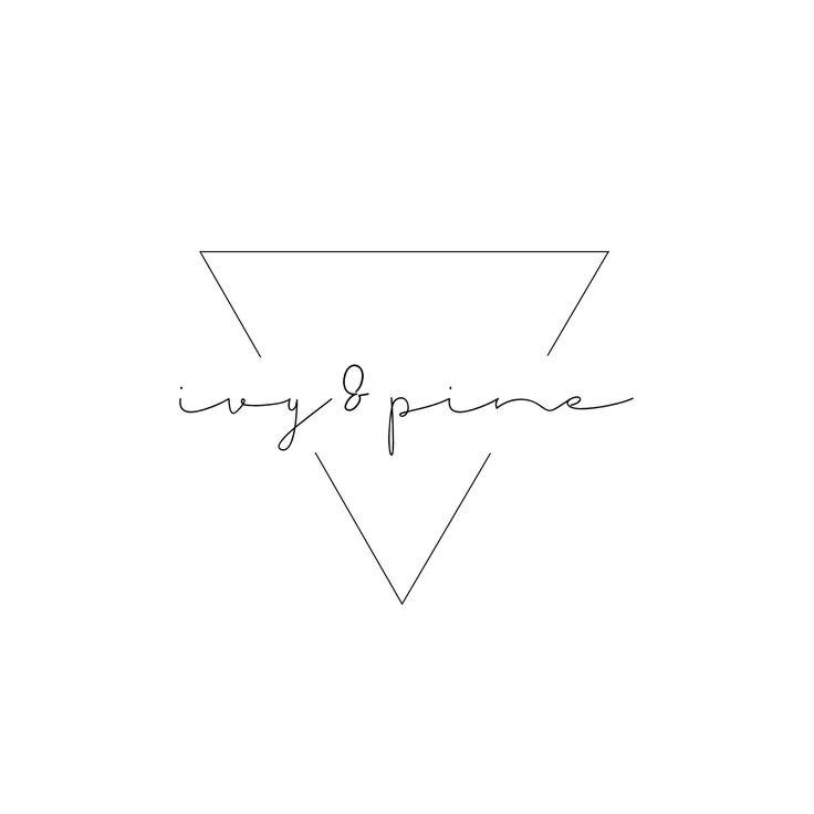 Custom Business Logo design - Pre made Geometric logo, Triangle Logo & Watermark, minimal logo design, Scandi logo design