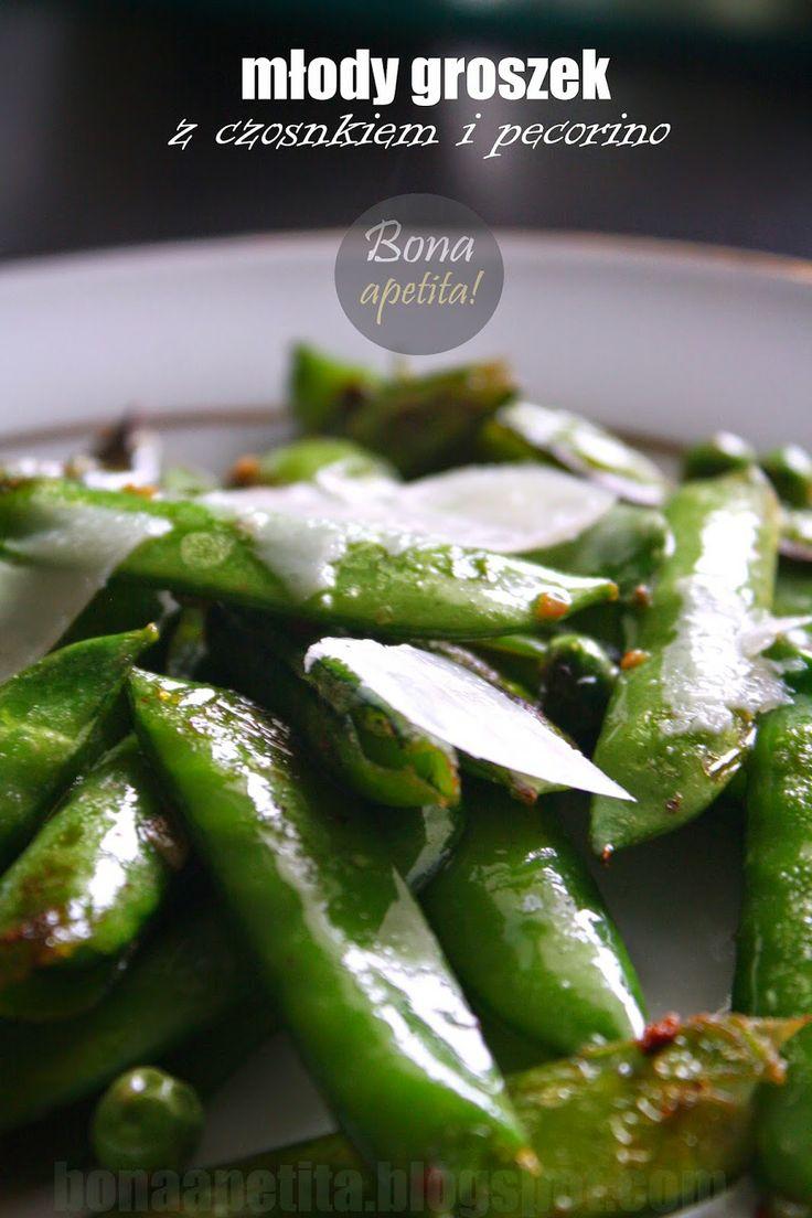 Bona Apetita! blog kulinarny, wnętrza, żyj ze smakiem!: Młody groszek z czosnkiem i pecorino - z cyklu Fit...