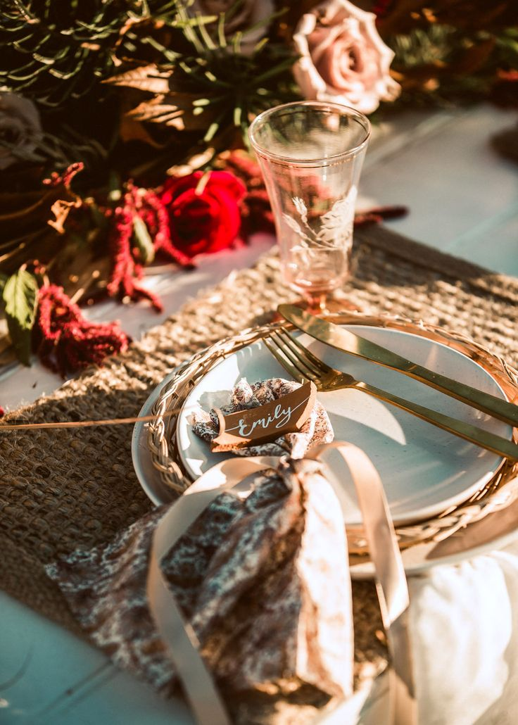 Sunset Bohemian Wedding Editorial With Pink Wooden arch