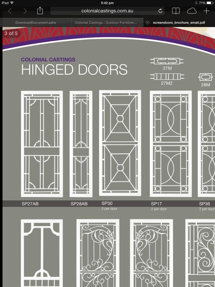 First door on the left for screen door - black