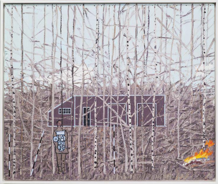 Leonard Rickhard Scene i krattskogen I, 2011-12, olje på tre, 42,9 x 50,8 cm