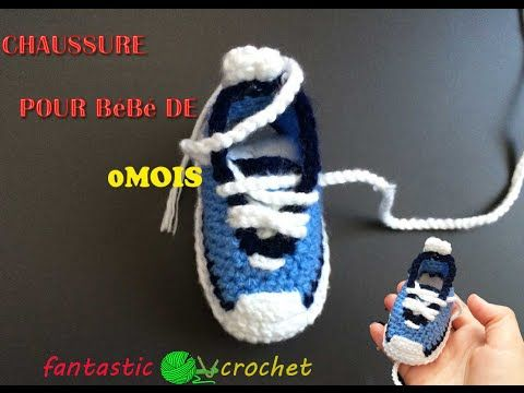 Baskets Nike bébé au crochet 1 / Baby sneakers Nike crochet tutorial 1 - YouTube