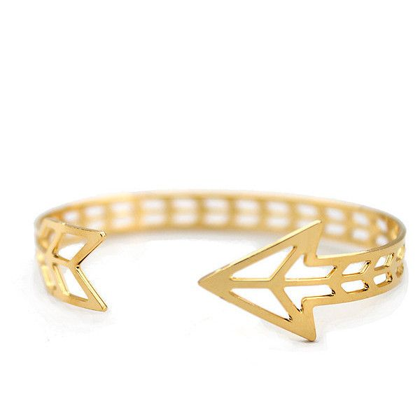 Arrow Cuff Bracelet ($85) ❤ liked on Polyvore featuring jewelry, bracelets, accessories, pulseiras, bijoux, hinged cuff bracelet, bangle cuff bracelet, cuff bangle and cuff bracelet