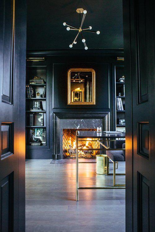 Leo Designs Parisian Lincoln Park dark walls home …
