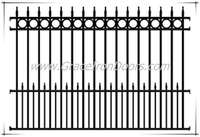 fence images | Iron Fences - Rod Iron Fence - Residential Iron Fences