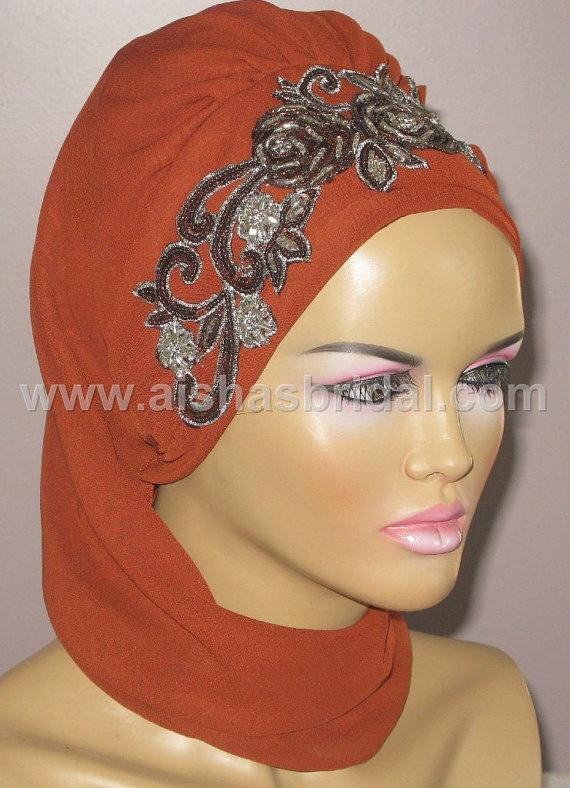 Ready To Wear Hijab  Code HT0130 by aishasbridal on Etsy, $27.91