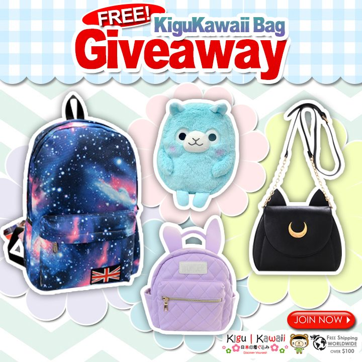 ♥ FREE GIVEAWAY ♥ Another good news this Back to School season! We are giving away any of these amazing cute bags FOR FREE! Simply follow the mechanics to win.  Promo runs from August 27, 2015 - September 3, 2015. Who will win? 1 winner will receive a FREE Kigu Kawaii bag! The winner will be announced on September 4, 2015. JOIN NOW ► http://on.fb.me/1EkrQy7