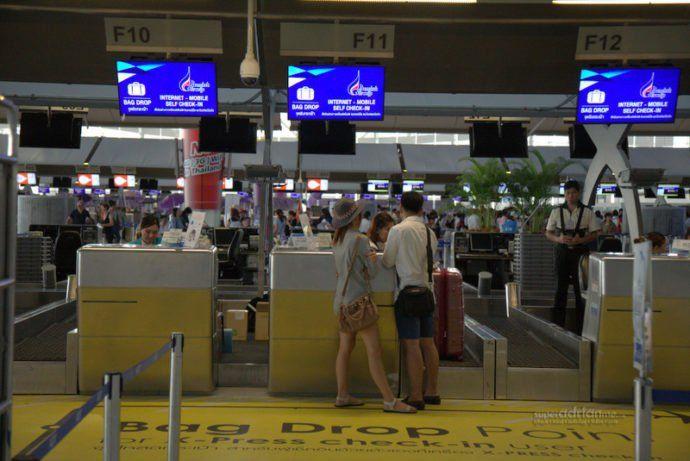 Bangkok Airways check in counters at Bangkok Suvarnabhumi Airport