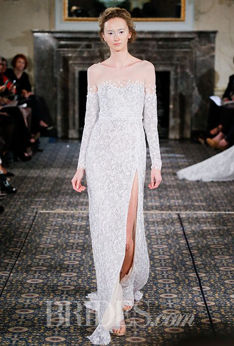 Brides: Mira Zwillinger Wedding Dresses   Spring 2016   Bridal Runway Shows   Brides.com | Wedding Dresses Style