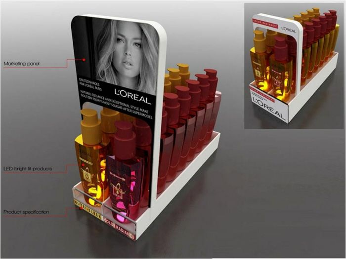 loreal motion sensor display by sum sharma at. Black Bedroom Furniture Sets. Home Design Ideas