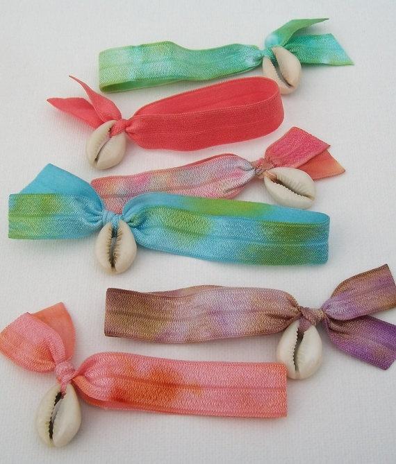 Mermaid party favors - bracelets or hair ties