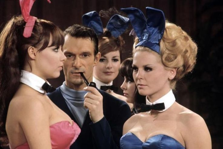 Hottest Pictures Taken Before And During The Groovy Era  | Curious Historian  Hugh Hefner and Playmates