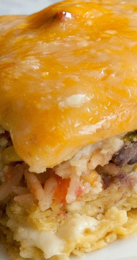 Hatch Green Chile Chicken Casserole ~ A flavor-packed casserole with the flavors of the southwest!