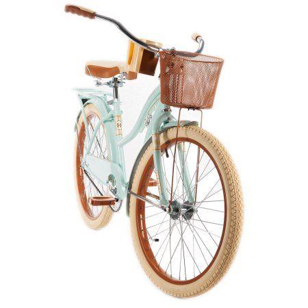 Huffy 24 Nel Lusso Womens Cruiser Bike With Basket