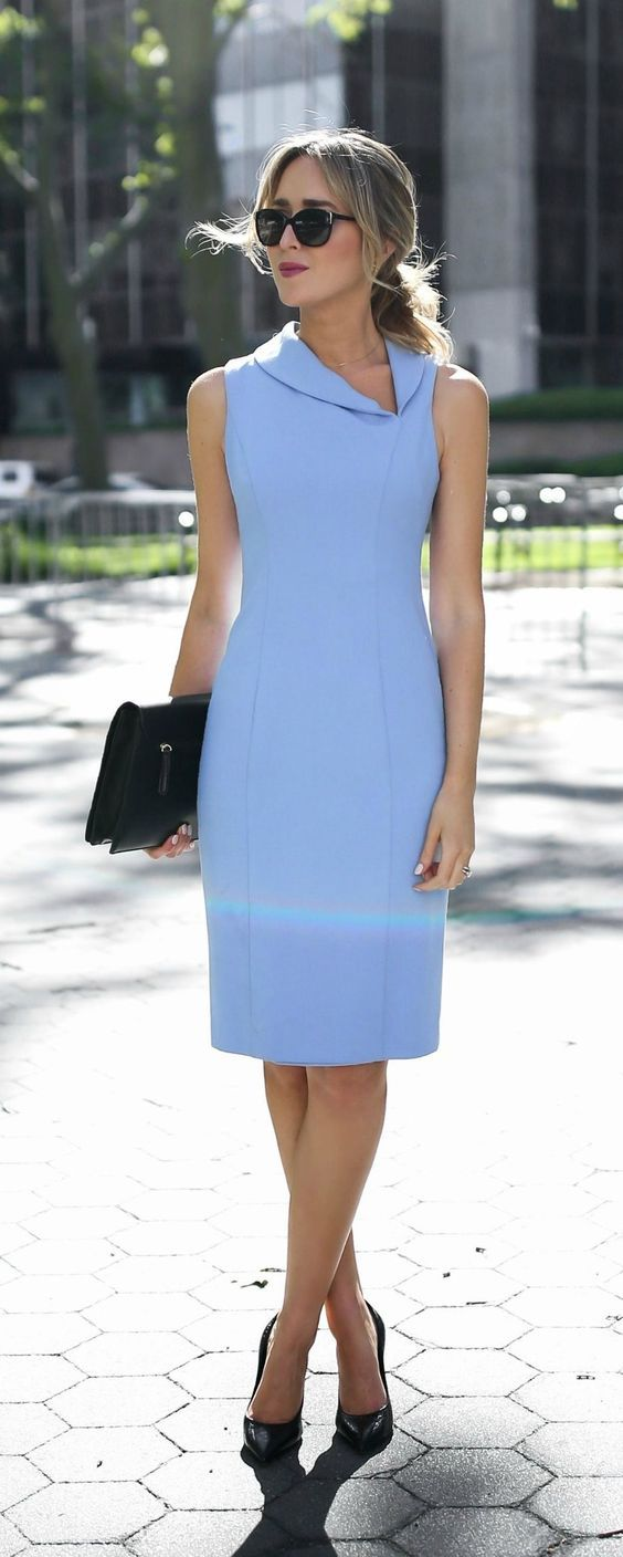 Simple but gorgeous professional work dresses ideas 43