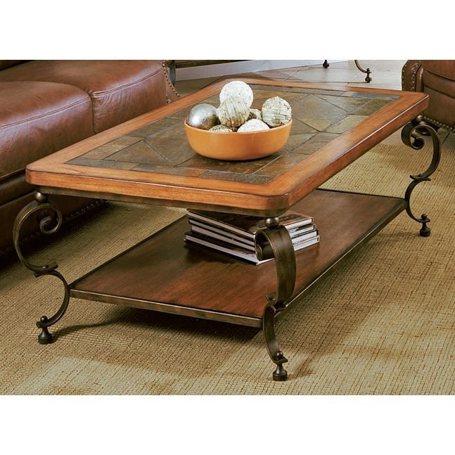Peters Revington St. Augustine Cocktail Table In Oak And Slate   871