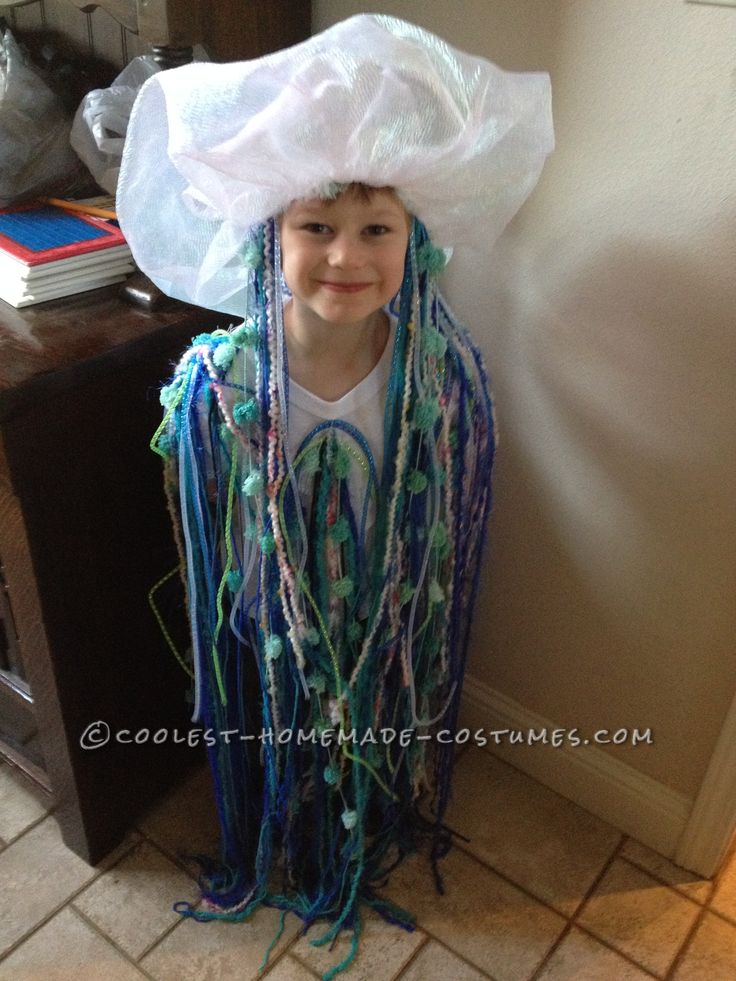 Adorable and Easy to Make Jelly Fish Costume… Coolest Halloween Costume Contest