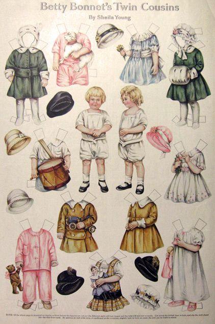 1916 Betty Bonnet 's Twin Cousins Paper Dolls , Miscellaneous Ephemera