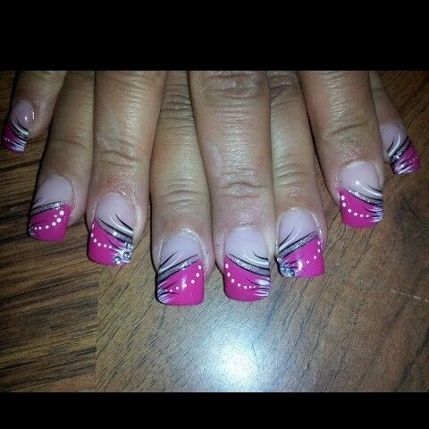 Lady in pink nails