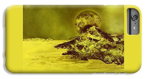 Golden Shore IPhone 6s Plus Case Printed with Fine Art spray painting image Golden Shore by Nandor Molnar (When you visit the Shop, change the orientation, background color and image size as you wish)