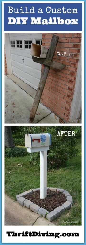 How to Build, Paint, and Install a DIY Custom Mailbox -- upcycling your old mailbox for this project, with a full tutorial and helpful tips and ideas before getting started.