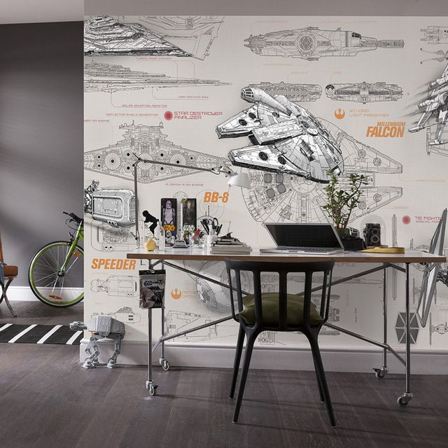 3D Star Wars Behang Muurschildering Custom Ruimteschip Ontwerp ...