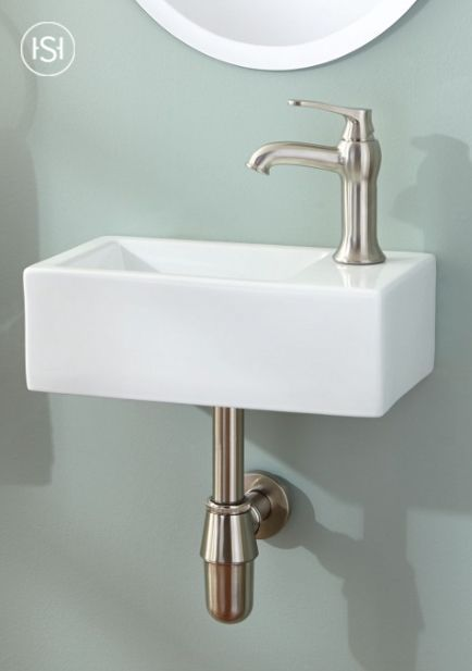 Welcome small space style to your half bath with the Muhlen Wall-Mount Sink. This is the ideal sink for tiny bathrooms that crave a kiss of modern and minimalist designs.