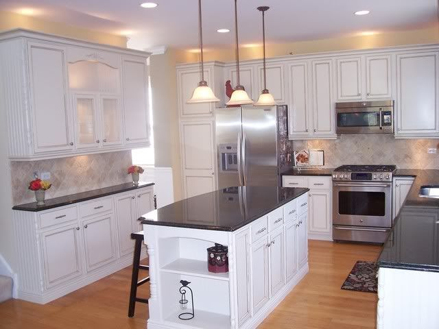 painting oak kitchen cabinets white before and after beautiful kitchen remodel with glazed cabinets details 9880