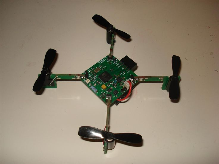 It's a tiny quadrotor helicopter! Update Feb 25 2012: Warning, I may have discovered a bug inside the CadSoft EAGLE 6.1.0 software that may make the PCB look slightly different. My design files are meant for 5.11 so use that instead