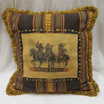 Double D Ranch Rough Riders Pillow