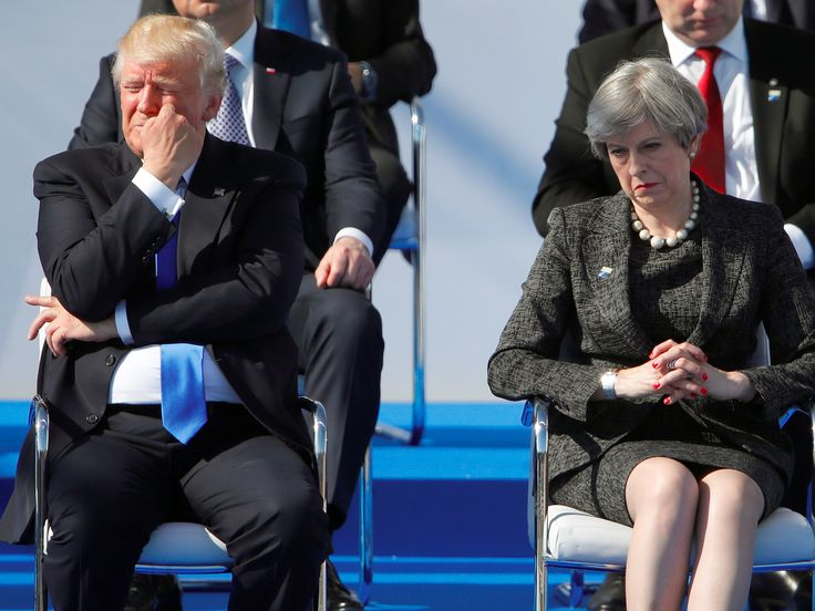 """Theresa May is using Trump's promise of a trade deal to quell a Tory rebellion - LONDON — Prime Minister Theresa May is using the """"optimism"""" of US President Donald Trump over a post-Brexit trade deal to face down a growing Tory rebellion among Cabinet colleagues and backbenchers.  On Saturday Trump said the US would sign a deal """"very, very quickly"""" following his meeting with May at the G20 summit in Hamburg.  May later said the UK would embrace """"old friends and new partners"""" in an apparent…"""