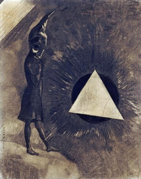 Odilon Redon - Souci D'Absolu... Philosophe - Art Print