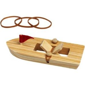 Wooden Rubber Band Powered Boat