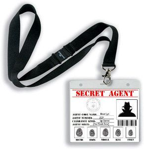 Secret Agent, Spy, Detective, CIA Printable ID Card Party Favor Badge in PDF Format