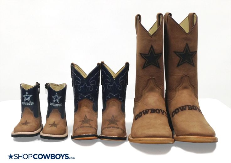 Dallas Cowboys Leather Boots For The Whole Family