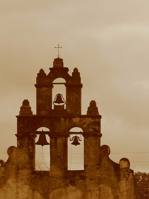 Donde esta Zorro?   The Bell Tower of Mission San Juan (San Antonio, TX)  Priceless, precious, simple, a symbol of unity and faith. Born of blood of Statesmen and heroes.