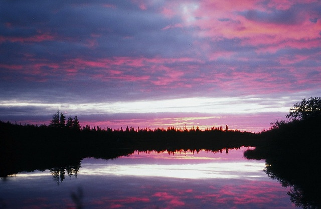 Sunset, Moose River, Moose Factory Ontario Canada by deanspic, via Flickr