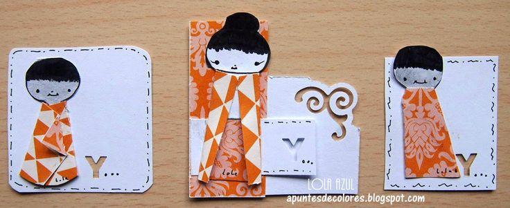 Muñequitas de papel. Apuntes de colores