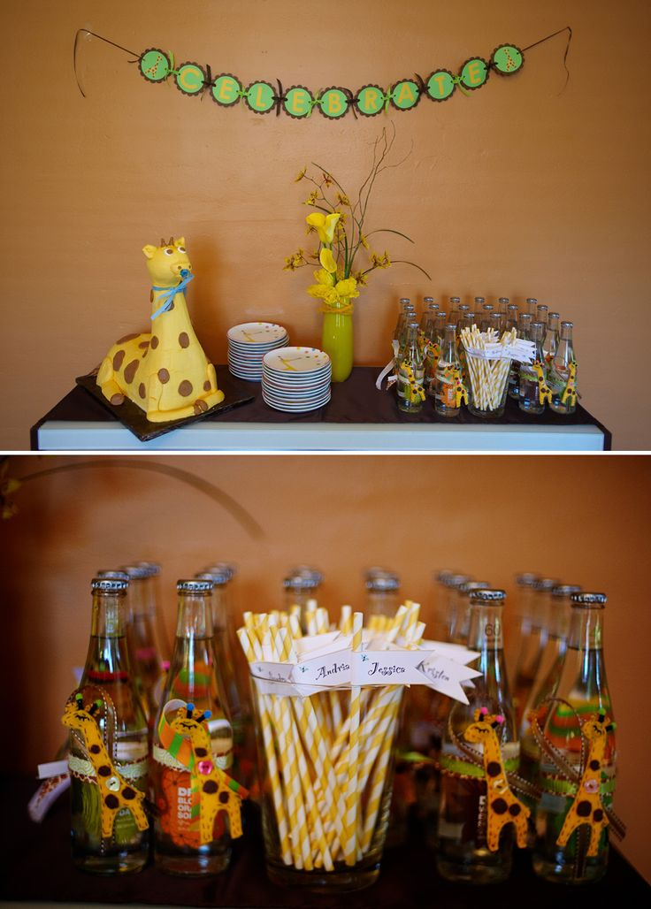 33 best images about giraffe baby shower on pinterest - Baby shower invitations and decorations ...